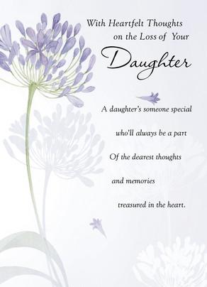 Daughter Loss Sympathy Card Cardstore