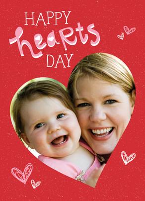 Happy Hearts 5x7 Folded Card