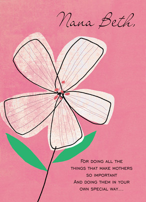 Five Petal Pink 5x7 Folded Card