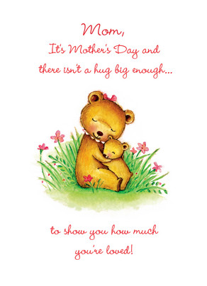 Bear Hug Mom 5x7 Folded Card