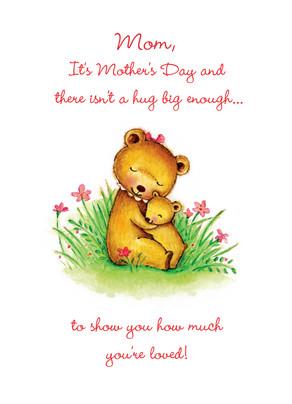 Bear Hug Mom 5x7 Folded Card