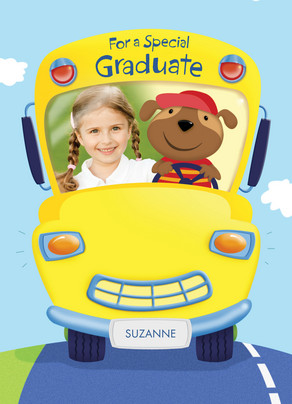 School Bus Congrats 5x7 Folded Card