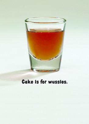 Cake Shot Glass 5x7 Folded Card