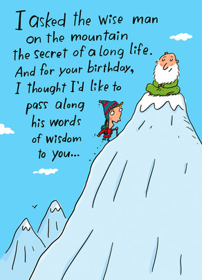 Mountain Man Wisdom 5x7 Folded Card