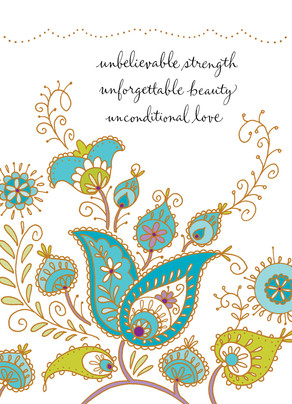 Strength Beauty Love 5x7 Folded Card