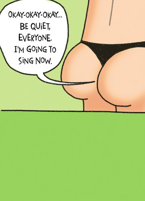 Thong Singing 5x7 Folded Card