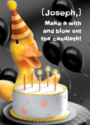 Duck Candles 5x7 Folded Card