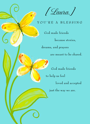 God Made Friends 5x7 Folded Card