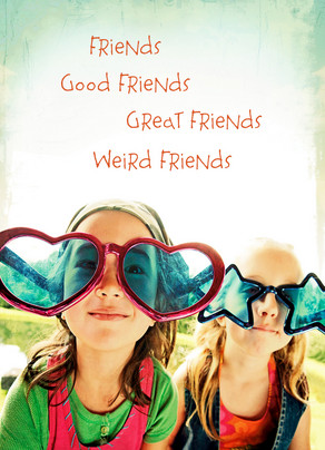 Weird Friends 5x7 Folded Card