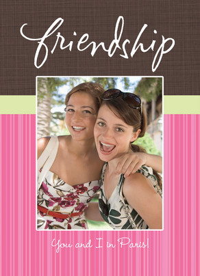 Photo Friendship 5x7 Folded Card