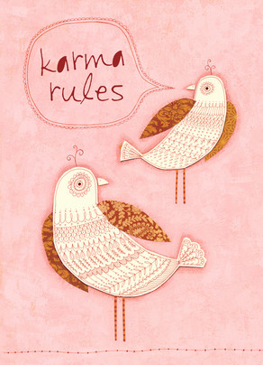 Karma Rules 5x7 Folded Card