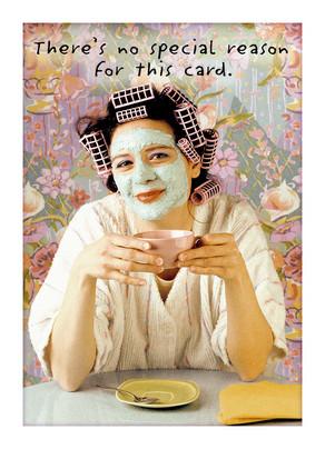 Curler Girl 5x7 Folded Card