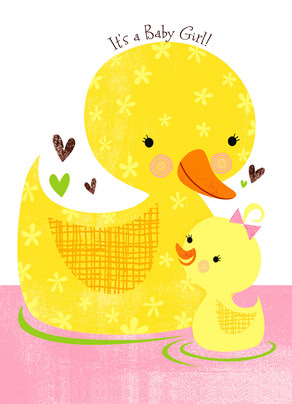 Baby Duckie 5x7 Folded Card