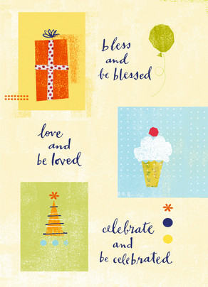 Bless Love Celebrate 5x7 Folded Card