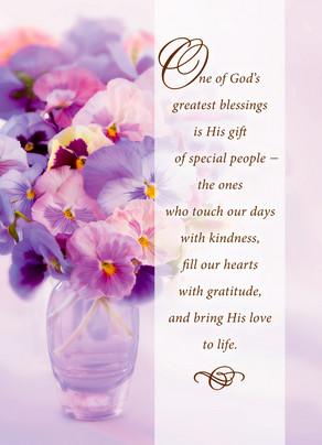 Greatest Blessings 5x7 Folded Card