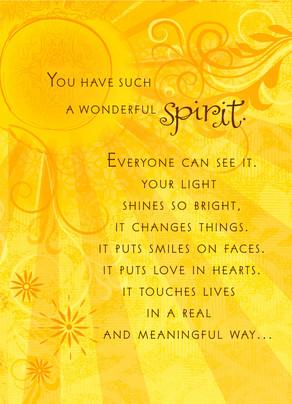 A Wonderful Spirit 5x7 Folded Card