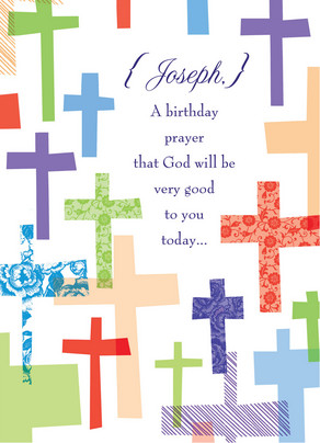 Birthday Prayer 5x7 Folded Card