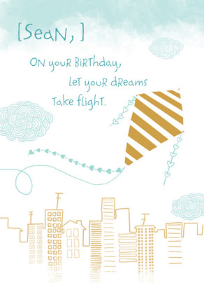 Dreams Take Flight 5x7 Folded Card