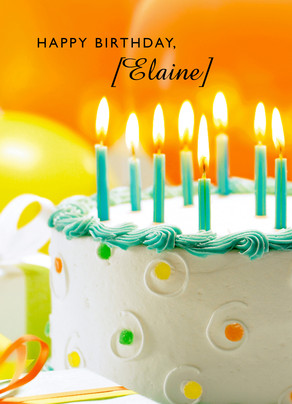 Cake Candles Birthday Happy Card