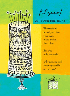 Wish for Every Candle 5x7 Folded Card