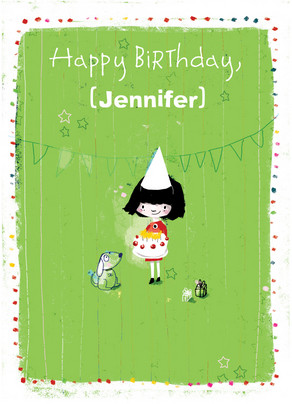 Petite Birthday Party 5x7 Folded Card