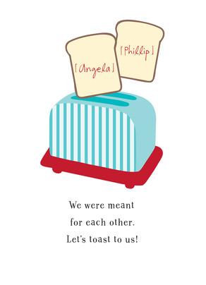 Toaster Pair 5x7 Folded Card