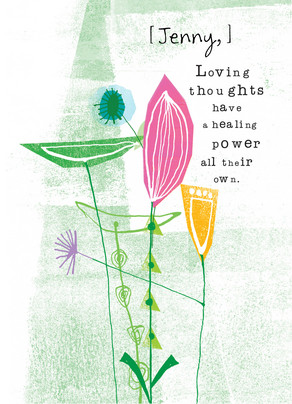 Loving Thoughts Healing Power 5x7 Folded Card