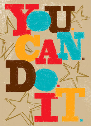 Bold You Can Do It 5x7 Folded Card