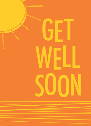 Sunshine Get Well 5x7 Folded Card