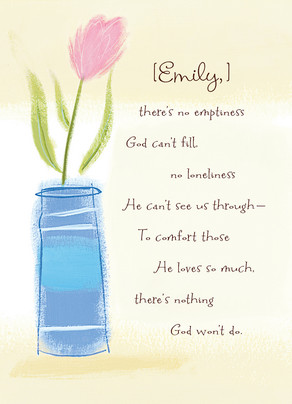 Single Flower God Heals 5x7 Folded Card