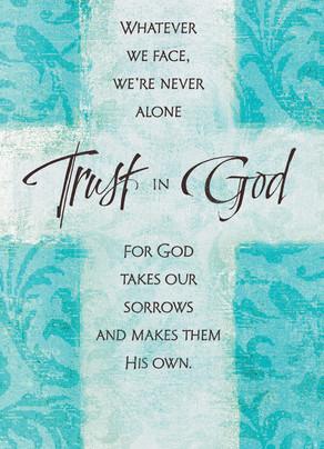 Blue Cross Trust in God 5x7 Folded Card