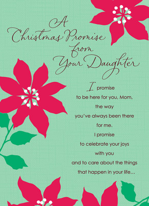 Daughter Christmas Promise 5x7 Folded Card