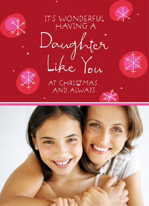 Crimson Christmas Daughter 5x7 Folded Card