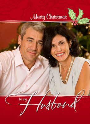 Holiday Husband Photo 5x7 Folded Card