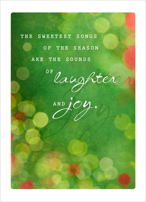 Sweetest Holiday Songs 5x7 Folded Card