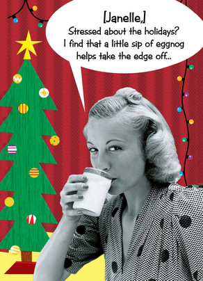 Holiday Eggnog 5x7 Folded Card