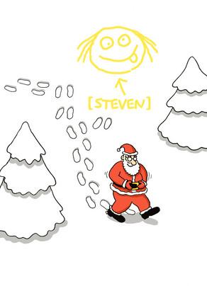 Christmas Snow Art 5x7 Folded Card