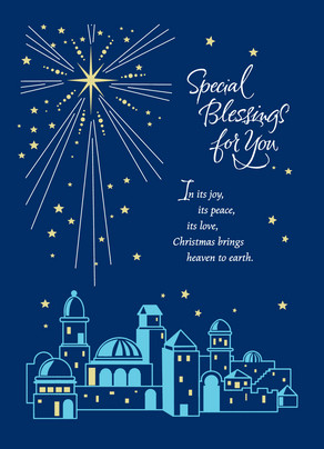 Star of Bethlehem Blessing 5x7 Folded Card