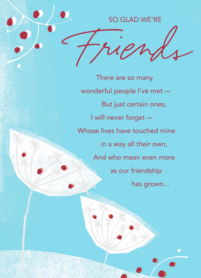 Winter friendship christmas card cardstore winter friendship 5x7 folded card m4hsunfo