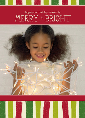 Merry and Bright 5x7 Folded Card