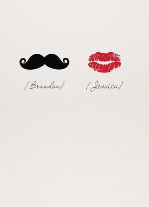 Mustache Valentine Lipstick 5x7 Folded Card