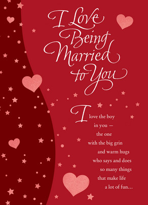 Love Being Married 5x7 Folded Card
