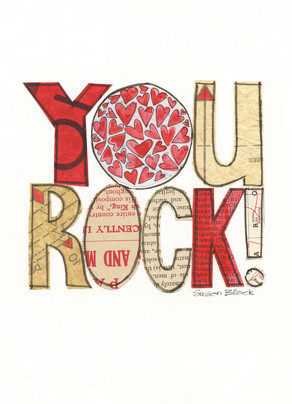 You Rock Love 5x7 Folded Card