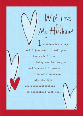 My Husband Love 5x7 Folded Card
