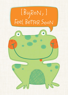 Better Soon Frog 5x7 Folded Card