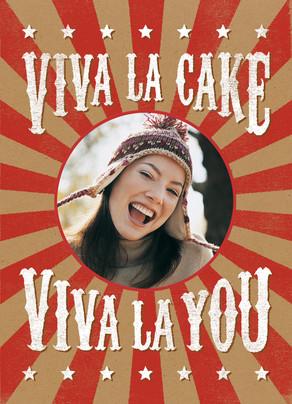 Viva La Cake 5x7 Folded Card