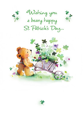Beary St Patricks 5x7 Folded Card