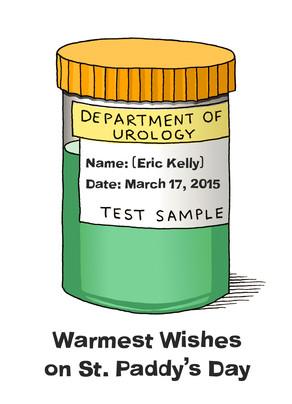 Warm Wishes Urology 5x7 Folded Card