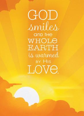 Warm Smile Love 5x7 Folded Card