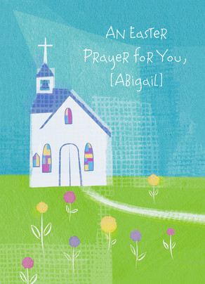 Easter Church Prayer 5x7 Folded Card